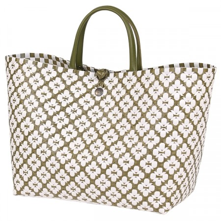 Motif Bag olive with  white pattern